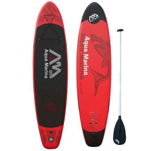 надувной sup борд AQUA MARINA MONSTER для серфинга сап с веслом